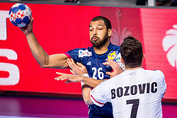 Nicolas Claire of France during handball match between National teams of Austria and France on Day 3 in Preliminary Round of Men's EHF EURO 2018, on January 14, 2018 in Arena Zatika, Porec, Croatia. Photo by Ziga Zupan / Sportida