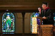 Paul Brandeis Raushenbush, Executive Religion Editor for the Huffington Post, speaks at the Commencement Ceremony for Colgate Rochester Crozer Divinity School in Rochester on Saturday, May 16, 2015.