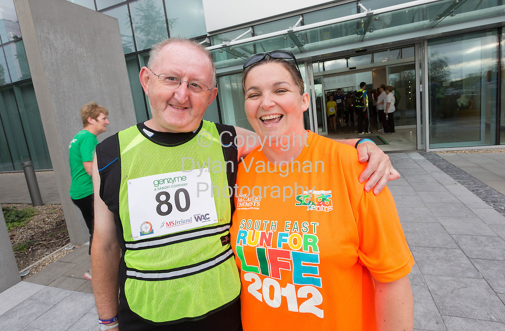 No Repro Fee<br /> <br /> <br /> 301/8/2013<br /> Michael White and Aideen O Connor pictured at the third annual Genzyme for MS Five Mile Road Race in Waterford on Friday (Aug 30). All proceeds from the race are going to the Waterford branch of the Multiple Sclerosis Society of Ireland. <br /> <br /> Picture Dylan Vaughan.