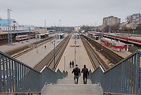 The Vilnius Railway Station on a grey November afternoon