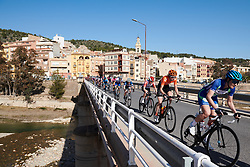 Riejanne Markus (NED) crosses the bridge in Ribesalves at Setmana Ciclista Valenciana 2019 - Stage 2, a 100 km road race from Borriol to Vila-Real, Spain on February 22, 2019. Photo by Sean Robinson/velofocus.com