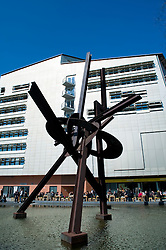Modern sculpture and building in Potsdamer Platz in Mitte Berlin 2009