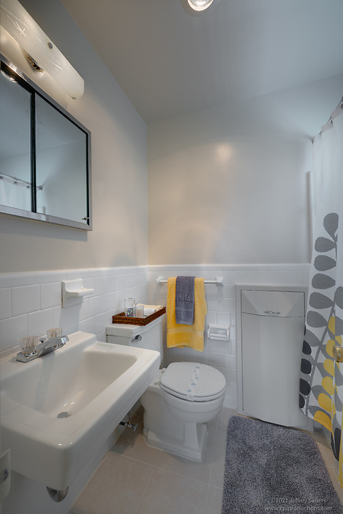 Interior photo of  bathroom at Washington Boulevard Apartments In Arlington VA by Jeffrey Sauers of Commercial Photographics, Architectural Photo Artistry in Washington DC, Virginia to Florida and PA to New England