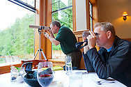 Eagle Nook Wilderness Resort and Spa is located on a remote area of Vancouver Island.  From the dining room one can watch eagles nesting in a tree nearby.
