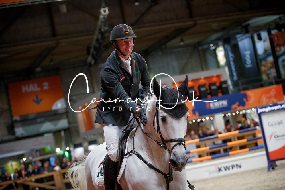 Vrieling Jur, NED, Dakar VDL<br /> KWPN Stallionshow - 's Hertogenbosch 2018<br /> © Hippo Foto - Dirk Caremans<br /> 01/02/2018