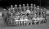Group picture of the party of players and officials from Glentoran Football Club, Belfast, N Ireland, who travelled in June 1967 to the USA and Canada to compete in the inaugural season  of the North American League. 196606000162<br /> <br /> Copyright Image from Victor Patterson, 54 Dorchester Park, Belfast, UK, BT9 6RJ<br /> <br /> t: +44 28 9066 1296<br /> m: +44 7802 353836<br /> vm +44 20 8816 7153<br /> <br /> e1: victorpatterson@me.com<br /> e2: victorpatterson@gmail.com<br /> <br /> www.victorpatterson.com<br /> <br /> IMPORTANT: Please see my Terms and Conditions of Use at www.victorpatterson.com