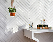 Antiquera, a hand-cut mosaic shown in venetian honed Dolomite, is part of The Studio Line of Ready to Ship mosaics. Designed by Paul Schatz for New Ravenna.