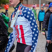 Sunday, Dec. 16, 2018 — Cincinnati's Spencer Petrov takes gold in the U23 race at the 2018 USA Cycling Cyclocross National Championships 18.2 in Louisville, KY. #CXNATS #photopresse.photoshelter.com #CYCLOCROSS #CX #FUJIXPRO2 #FUJIFILM #SPENCERPETROV #SPENCERCX1