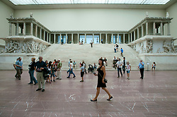 The famous Pergamon Altar at Pergamon Museum in Berlin Germany