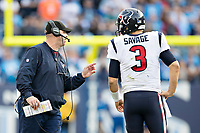 NASHVILLE, TN - DECEMBER 3:  Head Coach Bill O'Brien talks with Tom Savage #3 of the Houston Texans during a timeout during a game against the Tennessee Titans at Nissan Stadium on December 3, 2017 in Nashville, Tennessee.  The Titans defeated the Texans 23-14.  (Photo by Wesley Hitt/Getty Images) *** Local Caption *** Bill O'Brien; Tom Savage