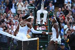 American Cori Gauff defeats American Venus Williams in the first round match of Wimbledon championships at the AELTC in London, UK, on Monday, July 1, 2019. Gauff defeated Williams 6-4, 6-4. Photo by Corinne Dubreuil/ABACAPRESS.COM