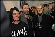 SUE WEBSTER; MAT COLLISHAW; POLLY MORGAN, Private view, Paul Simonon- Wot no Bike, ICA Nash and Brandon Rooms, London. 20 January 2015