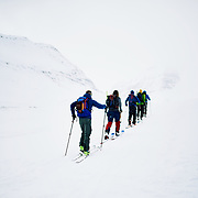 Skinning in the Karlsárdalur Valley, Iceland