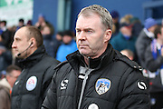 Oldham Athletic manager John Sheridan during the Sky Bet League 1 match between Oldham Athletic and Chesterfield at Boundary Park, Oldham, England on 28 March 2016. Photo by Simon Brady.