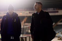 Plymouth Argyle manager Ryan Lowe and Kyle Bennett of Bristol Rovers arrives at Home Park prior to kick off - Mandatory by-line: Ryan Hiscott/JMP - 17/12/2019 - FOOTBALL - Home Park - Plymouth, England - Plymouth Argyle v Bristol Rovers - Emirates FA Cup second round replay