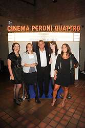 Left to right, BIANCA SHEVLIN, KAREN RAGLIONE, NICK MILLER, LAUREN GOLD and FEDERICA IACONETTI at the Launch of Peroni Nastro Azzurro Accademia del Film Wrap Party Tour held atThe Boiler House, 152 Brick Lane, London E1 on 25th August 2010.