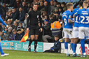 Original assistant referee J Clark is taken ill during the EFL Sky Bet League 1 match between Peterborough United and Rotherham United at London Road, Peterborough, England on 25 January 2020.