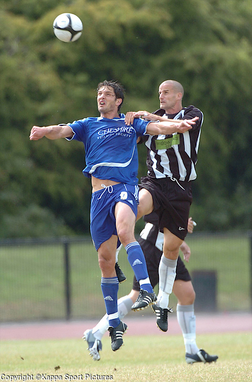 Corby Chris Hope holds of Macclesfield Ben Wright, attack, Corby Town v Maclesfield, Pre Season Friendly, Rockingham Road Triangle, 11th  July 2009