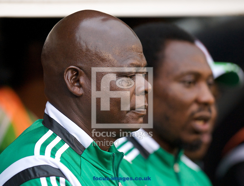 Head coach Stephen Keshi of Nigeria before the International Friendly match at Craven Cottage, London<br /> Picture by Alan Stanford/Focus Images Ltd +44 7915 056117<br /> 28/05/2014