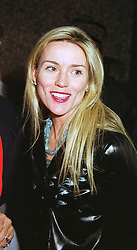 MRS SPYROS NIARCHOS(Daphne Guinness) at a party in London on 29th April 1999.MRO 103