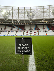 A general view of London stadium ahead of the match