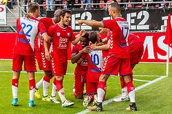 16-08-2017 NED: Europa League FC Utrecht - Zenit St. Petersburg, Utrecht<br /> Zakaria Labyad #10 of FC Utrecht scoort de winnende 1-0 en viert zijn feestje