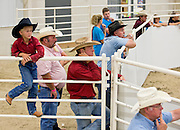 Spectators watch during the Draft Horse Hitch show Friday evening in the Five Points Bank Arena at the Nebraska State Fair in Grand Island. (Independent/Matt Dixon)