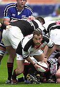 26/05/2002.Sport -Rugby Union - Parker Pen Shield Final.Sale vs Pontypridd..Pool captain  -  Paul John   [Mandatory Credit, Peter Spurier/ Intersport Images].