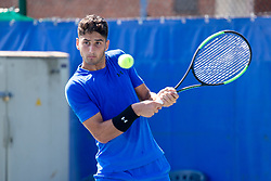 Altug Celikbilek (TUR) play against Mirko Cutuli (ITA) at ATP Challenger Zavarovalnica Sava Slovenia Open 2018, on August 5, 2018 in Sports centre, Portoroz/Portorose, Slovenia. Photo by Urban Urbanc / Sportida