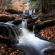 Oneida waterfall in Pennsylvania during autum