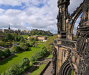 City of Edinburgh as seen from the Scott monument,Lothian