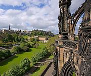 City of Edinburgh as seen from the Scott monument,Lothian