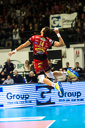 January 13, 2018 - Monza, Italy, Italy - Alexandar Atanasijeciv #14 competes during A1 match between Gi Group Monza v Sir Safety Conad Perugia (Credit Image: © Mairo Cinquetti/Pacific Press via ZUMA Wire)
