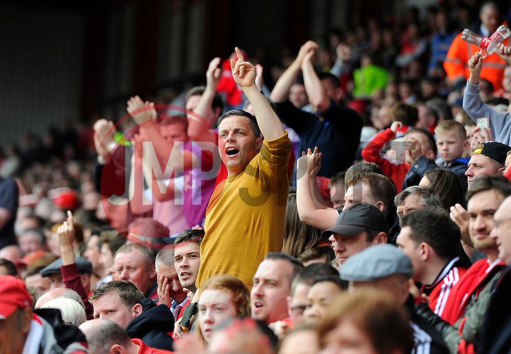 Fans  - Photo mandatory by-line: Joe Meredith/JMP - Mobile: 07966 386802 - 03/05/2015 - SPORT - Football - Bristol - Ashton Gate - Bristol City v Walsall - Sky Bet League One