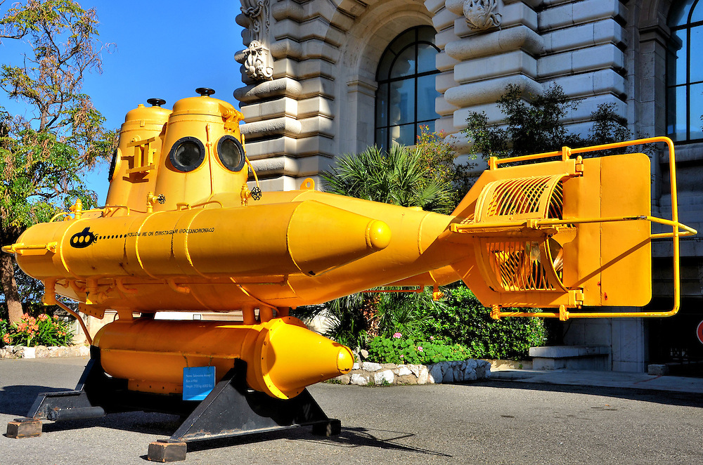 Yellow Mini-Submarine in Monte Carlo, Monaco <br />