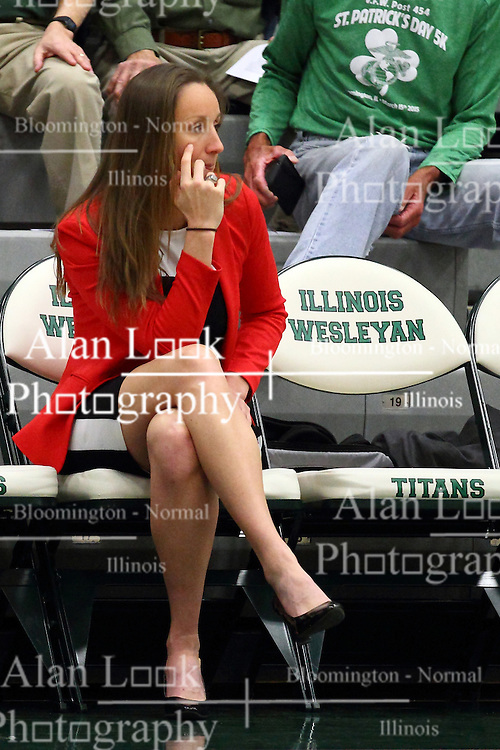 20 February 2016:  Olivia Lett during an NCAA women's basketball game between the Elmhurst Bluejays and the Illinois Wesleyan Titans in Shirk Center, Bloomington IL