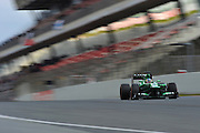 February 19, 2013 - Barcelona Spain. Charles Pic, Caterham F1 Team during pre-season testing from Circuit de Catalunya.