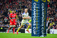 Essai Nick ABENDANON - 02.05.2015 - Clermont / Toulon - Finale European Champions Cup -Twickenham<br />Photo : Dave Winter / Icon Sport