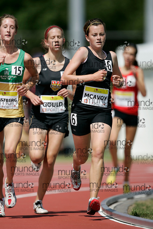 Ottawa, Ontario ---10-08-07--- McAvoy competes in the 3000 metres at the 2010 Royal Canadian Legion Youth Track and Field Championships in Ottawa, Ontario August 7, 2010..GEOFF ROBINS/Mundo Sport Images.Ottawa, Ontario ---10-08-07--- McAvoy competes in the 3000 metres at the 2010 Royal Canadian Legion Youth Track and Field Championships in Ottawa, Ontario August 7, 2010..JULIE ROBINS/Mundo Sport Images.