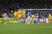 Bristol Rovers Billy Bodin(23) takes a free kick scores a goal 2-3 during the EFL Sky Bet League 1 match between Bristol Rovers and Millwall at the Memorial Stadium, Bristol, England on 30 April 2017. Photo by Shane Healey.