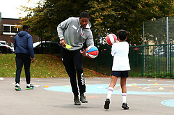 Bristol Sport and Bristol Energy launch their partnership at Millpond School with help from Rhondell Goodwin of Bristol Flyers - Mandatory by-line: Robbie Stephenson/JMP - 09/10/2017 - SPORT - Millpond School - Bristol, England - Bristol Sport and Bristol Energy Partnership Launch
