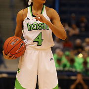 Skylar Diggins, Notre Dame, in action during the Notre Dame Fighting Irish V Louisville Cardinals Semi Final match during the Big East Conference, 2013 Women's Basketball Championships at the XL Center, Hartford, Connecticut, USA. 11th March. Photo Tim Clayton