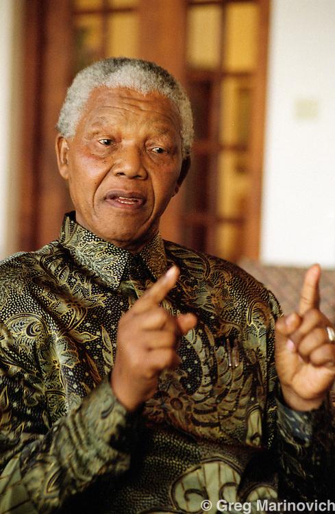 Nelson Mandela, Johannesburg, South Africa.