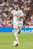 Real Madrid's Karim Benzema during Supercup of Spain 2nd match at Santiago Bernabeu Stadium in Madrid, Spain August 16, 2017. (ALTERPHOTOS/Borja B.Hojas)