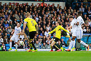 Leeds United's Kalvin Phillips (23) shoots for goal during the EFL Sky Bet Championship match between Leeds United and Burton Albion at Elland Road, Leeds, England on 29 October 2016. Photo by Richard Holmes.
