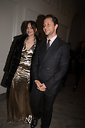 DAKOTA JOHNSON; DEREK BLASBERG, Vogue100 A Century of Style. Hosted by Alexandra Shulman and Leon Max. National Portrait Gallery. London. WC2. 9 February 2016.