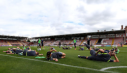 Bristol Rovers warm up ahead of the preseason friendly at Exeter City - Mandatory by-line: Robbie Stephenson/JMP - 16/07/2016 - FOOTBALL - St James Park - Exeter, England - Exeter City v Bristol Rovers - Pre-season friendly