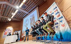 14.11.2016, Kongresszentrum, Seefeld, AUT, FIS Ski Sprung Weltcup, OeSV PK Saisonautakt, im Bild das Podium // during a Press conference of Austrian Skiteam, OeSV Ski Jump at the Kongresszentrum in Seefeld, Austria on 2016/11/14. EXPA Pictures © 2016, PhotoCredit: EXPA/ JFK