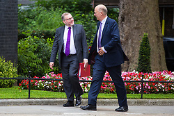 London, July 18th 2017. Scotland Secretary David Mundell and Transport Secretary Chris Grayling attends the last cabinet meeting before the Parliamentary summer recess at Downing Street in London.