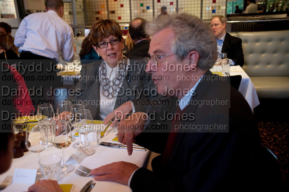 PRUE LEITH; WILLIAM WALDEGRAVE Literary charity First Story fundraising dinner. Cafe Anglais. London. 10 May 2010. *** Local Caption *** -DO NOT ARCHIVE-© Copyright Photograph by Dafydd Jones. 248 Clapham Rd. London SW9 0PZ. Tel 0207 820 0771. www.dafjones.com.<br /> PRUE LEITH; WILLIAM WALDEGRAVE Literary charity First Story fundraising dinner. Cafe Anglais. London. 10 May 2010.